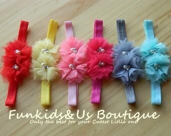Baby Tulle Flower Headband,