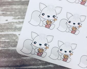 Fried Fox Sticker | Character Sticker | Foxy Fox Series | K099