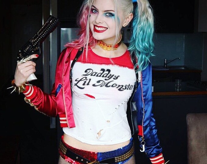 Featured listing image: Harley Quinn Sequin hot pant shorts - Suicide Squad - As 'Infamous Harley Quinn'