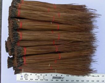 Pine Needles Glycerin - Natural Brown, Pine Needle Basket, Gourd Rim, Pine Needle,  2 oz bundles