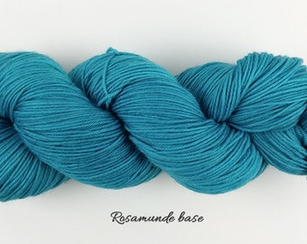 Draft No. 47 - light turquoise blue green semisolid hand dyed yarn - fingering sock merino nylon - Rosamunde and Christie - 100 grams