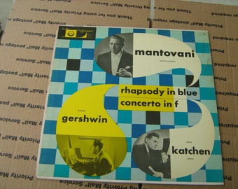 1950s Mantovani and his orchestra rhapsody in blue  33-1/3 rpm vinyl on  London # LL -1262