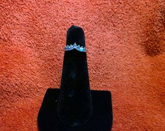 Sterling Silver DQ CZ Ring Enhancer GV