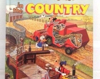 Vintage Walt Disney's How it works in the Country Book 1982 Illustrated