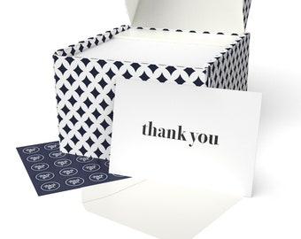 100 Thank You Cards Set (Letterpress) with Envelopes and Sticker-Greeting Cards Assortment for Baby Showers, Birthdays, Weddings, Business