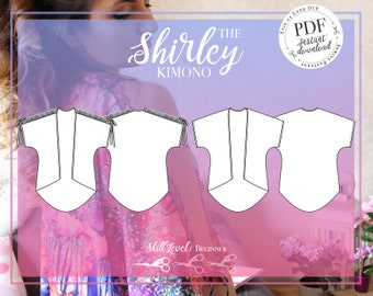 PDF DIGITAL Kimono Sewing Pattern - The Shirley Kimono - Evie la Luve
