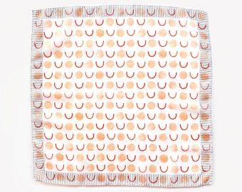Chiffon neck scarf for women, Orange Neck scarves, Neckerchief, Chiffon scarf, Lightweight scarf, Chiffon Kerchief, Summer scarf