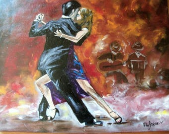 Oil painting passion tango