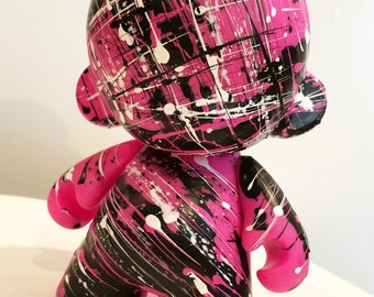 4in Munny (Pink) hand painted by emKel