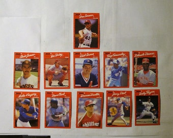 These 11  (ex cond) MAJOR LEAGUE Baseball cards  All are 1990 series cards by DONRUSS.  see description