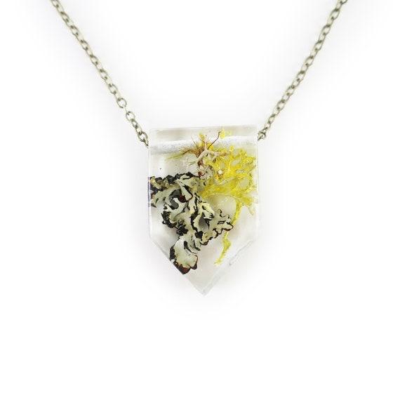 Terrarium Eco Resin Necklace • Nature Necklace • Eco Resin Pendant • Terrarium Jewelry • Moss Jewelry • Science Jewelry • Botanical Jewelry