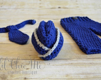 Air Force Baby Hat & Outfit Set ~ Gift Set/Photography Prop