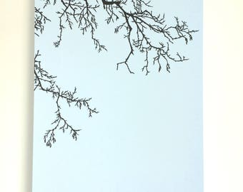 Blue Winter Tree - Original handcut paper artwork