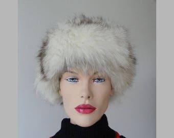 Silver Fox Fur Vintage Hat // Size 51/52