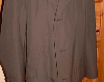 Vintage 1960s men's winter coat with fake fur EU 56/58