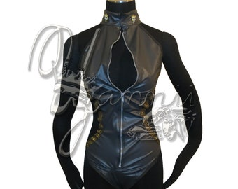 Faux Leather leotard by Yannii