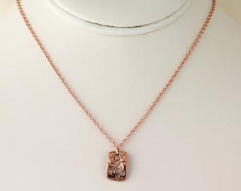Copper Clay Pendant. Listing 111160996