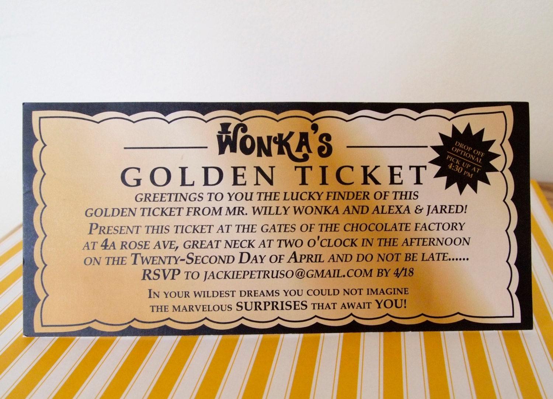 Willy wonka golden ticket invitation digital printable zoom filmwisefo