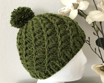 Knitted Slouchy spiral Women's Winter Hat
