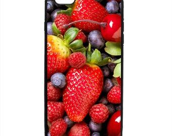 Berries Fruit Print Phone Case Samsung Galaxy S5 S6 S7 S8 S9 Note Edge iPhone 4 4S 5 5S 5C 6 6S 7 7S 8 8S X SE Plus
