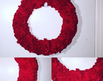 Red Rose flower Wreath!
