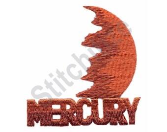 Mercury - Machine Embroidery Design, Planet