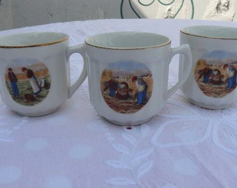 Old coffee cups