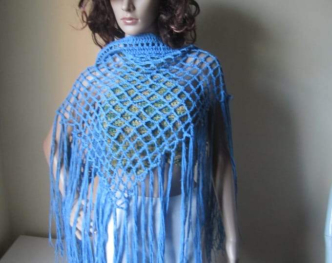 Crochet scarf, elongated fringescarf, Fringe sarong, fringe skirt, shawl scarf, bohemian, gypsy clothing, festival clothing, winter scarf