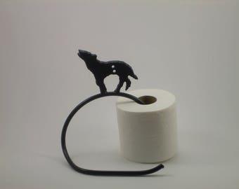 Wolf toilet paper holder