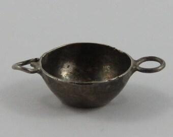 Bowl Sterling Silver Vintage Charm For Bracelet
