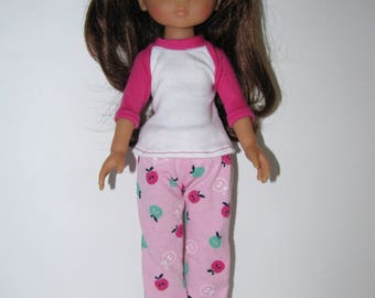 Pink pajama set for Corolle Les Cheries and Hearts for Hearts Girls