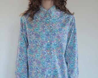 70's Cacharel La Chemiserie Liberty floral cotton shirt