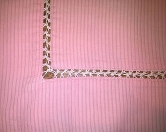553) old pillowcase, pillow cover, pink