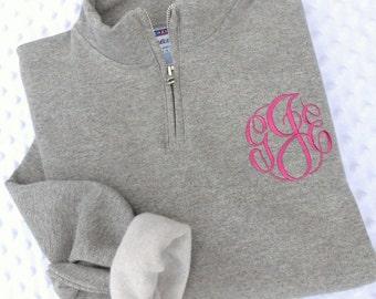Monogrammed 1/4 Zip Sweatshirt.. Quarter Zip... Pullover