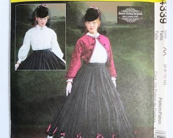 Costume Pattern, Ball Gown Pattern, Civil War Pattern, Belle, Hoop Skirt, Christmas, Dress, Jacket, Skirt, Pattern, Mccalls, 4339, Dickens