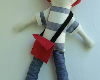Bobby/Light - maylo studio cloth doll rag doll custom handmade modern