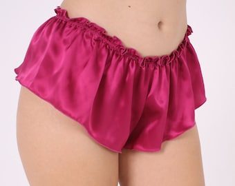 Pink Silk French Knickers - cute luxe lingerie