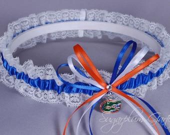University of Florida Gators Lace Wedding Garter