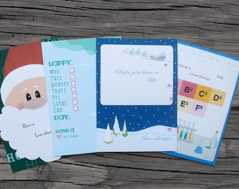 Digital, Custom Holiday & General Lunch-box Note Cards