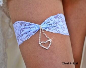 Pale Blue Garter, Brides Garter Set, Lace Garter, Heart Garter, Retro Garter Garter, Garter Set Blue, Lace Garter Set, Heart Bridal Jewelry
