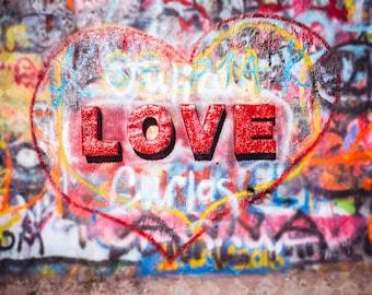 Graffiti Art Photo Love Fine Photography Heart Modern Wall Decor