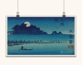 JAPANESE ART Japanese Wall Art Japanese Prints Japanese Wall Art Vintage Ancient Japanese Tranquil Home Blue Japanese Antique Wall Hangings