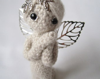 2.7 Inc Miniatur Engel gehäkelt