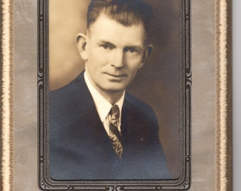 Vintage Antique Art Deco Studio Photo of a Gentleman ~ Petaluma, California Studio