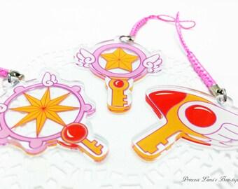 """2"""" Double Sided Cardcaptor Sakura Acrylic Charms"""