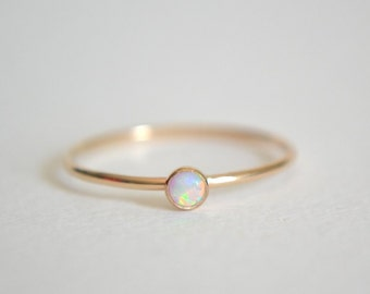 Gold opal ring Etsy