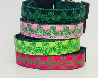 Celtic - Clover Leaf - St. Patrick's Day Dog Collar - Celtic Knot - Green - Pinch - Dog Gift -