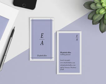 Wedding Planner Business Card  | Wedding Stylist Custom Business Card | Professional Calling Card | Modern Business Card | Bridal Show