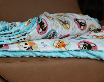 Cats Weighted Therapy Blanket- all sizes and weight available