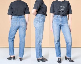 LEVIS Freund JEAN 540 hohe Taille verblasst Jahrgang gerades Bein Bootcut Frauen lose Passform / Größe 13 / Taille 34 Zoll / Hüfte 40 Zoll